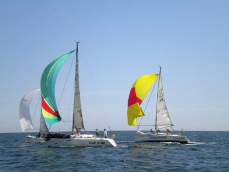 sailboat with spinnaker Ibiza
