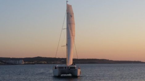 Lagoon 400 catamaran for rent in Ibiza