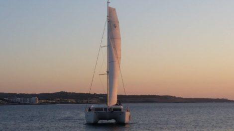 Lagoon 400 catamaran for rent in Ibiza