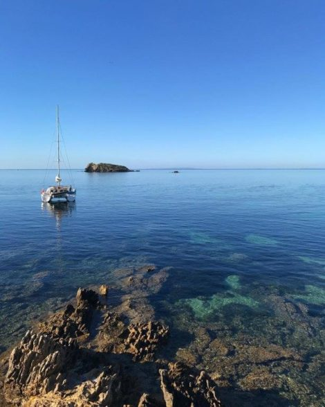 Lagoon 400 catamaran for rent in Ibiza in winter